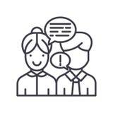 Convaincre le concept d'icône de noir d'interlocuteur Convaincre le symbole plat de vecteur d'interlocuteur, signe, illustration illustration libre de droits