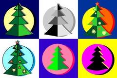 Convencional y árboles de navidad Fotos de archivo libres de regalías
