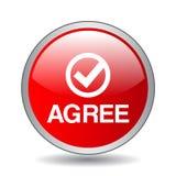 Convenez/acceptez le bouton illustration de vecteur