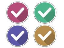 Convenez l'icône correcte d'icône d'icône oui Photographie stock