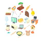 Convenience icons set, cartoon style. Convenience icons set. Cartoon set of 25 convenience vector icons for web isolated on white background stock illustration