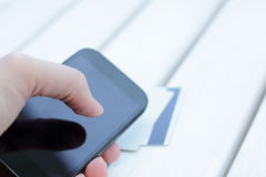 Convenience mobile payment Stock Image