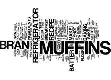 The Convenience Of Refrigerator Bran Muffins Text Background  Word Cloud Concept. THE CONVENIENCE OF REFRIGERATOR BRAN MUFFINS Text Background Word Cloud Concept Royalty Free Stock Images