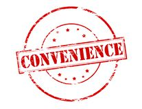 Convenience. Rubber stamp with word convenience inside,  illustration Royalty Free Stock Photos