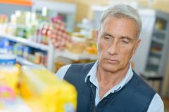 In the convenience store. Boutique royalty free stock photo