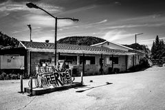 Convenience store closed (Translation) Stock Image