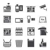 Convenience Store Equipment icon. Black vector set vector illustration
