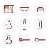 Convenience Store Icon #1. Convenience Store items Icon. these are some of the items available in a 24-hour grocery store royalty free illustration