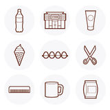 Convenience Store Icon #2. Convenience Store items Icon. these are some of the items available in a 24-hour grocery store royalty free illustration
