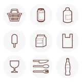 Convenience Store Icon #4. Convenience Store items Icon. these are some of the items available in a 24-hour grocery store vector illustration