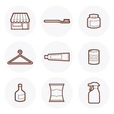 Convenience Store Icon #5. Convenience Store items Icon. these are some of the items available in a 24-hour grocery store vector illustration