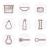 Convenience Store Icon #6. Convenience Store items Icon. these are some of the items available in a 24-hour grocery store royalty free illustration