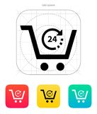 Convenience store icon. Vector illustration royalty free illustration