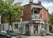 Convenience store. R in Little Italy, Montreal.nLittle Italy French: La Petite-Italie; Italian: Piccola Italia is a neighbourhood in Montreal, Quebec, Canada. It Stock Photo