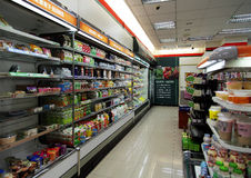 The Convenience Store in Taiwan. The corner of 7-11 Convenience Store in Taiwan royalty free stock photo