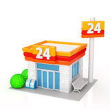 Convenience store. The convenience store on white background royalty free illustration
