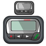 Convenient compact pager for business person stock illustration