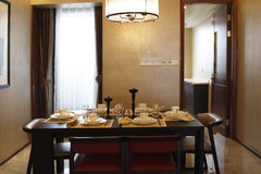 Convenient Dining - room in the apartment Royalty Free Stock Photo
