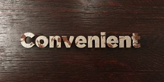 Convenient - grungy wooden headline on Maple  - 3D rendered royalty free stock image. This image can be used for an online website banner ad or a print Royalty Free Stock Photo