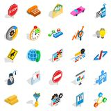 Convenient icons set, isometric style. Convenient icons set. Isometric set of 25 convenient vector icons for web isolated on white background Stock Photo