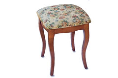 Convenient stool with the seat upholstered with a gobelin. Royalty Free Stock Images