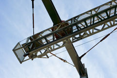 Convenient unloading crane. For the wharf royalty free stock images