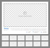 Convenient wall calendar 2018, monthly, flat. Suitable planner with big copyspace and little parts on every month. Vector illustration Stock Image