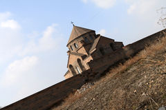 The convent in Armenia. The ancient convent in spring, Republic of Armenia Royalty Free Stock Images