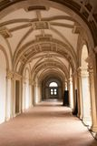 The Convent of Christ is a former Roman Catholic monastery in To. Mar Portugal. The convent was founded by the Order of Poor Knights of the Temple or Templar royalty free stock images
