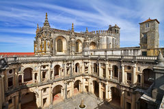 Convent of Christ in Tomar. Convent of Christ of Tomar is one of Portugal's most important historical monuments and has been in the World Heritage list of UNESCO Royalty Free Stock Image