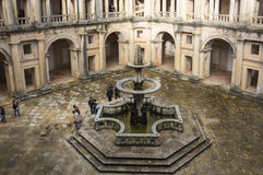 The Convent of Christ. TOMAR, PORTUGAL - OCTOBER 17, 2015: The Convent of Christ is a former Roman Catholic monastery in Tomar, Portugal. The convent was founded Stock Image