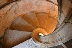 Convent of Christ in Tomar, Portugal. Spiral staircase Stock Photography