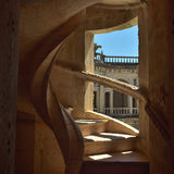 Convent of Christ in Tomar, Portugal. Spiral staircase Royalty Free Stock Photography