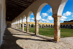 Convent courtyard. San Antonio De Padua convent, Izamal, Mexico Stock Photos