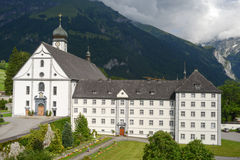 The convent of Engelberg on Switzerland Stock Photos