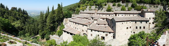 Convent Eremo Le Celle在意大利 免版税库存图片