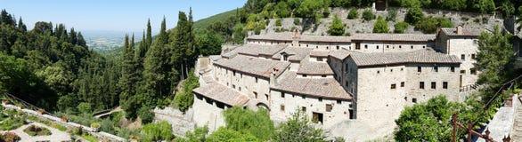 Convent Eremo Le Celle en Italia Imagen de archivo libre de regalías