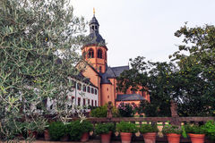 Convent Garden and Basilica in Seligenstadt, Germany Royalty Free Stock Photography