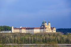 Convent Melk at river Danube in Lower Austria Stock Images