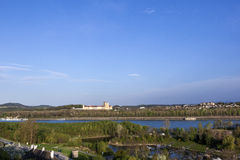 Convent Melk at river Danube in Lower Austria Royalty Free Stock Images
