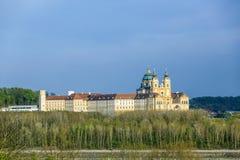 Convent Melk at river Danube in Lower Austria Stock Photos