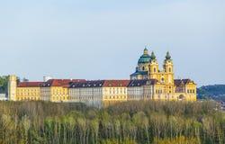 Convent Melk at river Danube in Lower Austria Stock Image