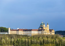 Convent Melk at river Danube in Lower Austria Stock Photography