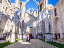Convent of Our Lady of Mount Carmel in Lisbon, Portugal. Royalty Free Stock Image