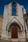 Convent of Our Lady of Mount Carmel ruins Convento da Ordem do Carmo. Lisbon, Portugal Royalty Free Stock Photo