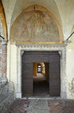 Convent. Rovato (Bs), Italy, the Convent of Annunciation, the port of entry to monastery Stock Photos