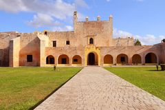 Convent of San Bernardino de Siena III. Convent of San Bernardino de Siena in the magical village of Valladolid , mexican state of yucatan Royalty Free Stock Photo