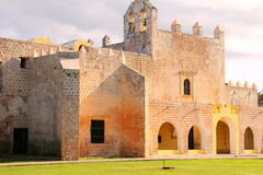 Convent of San Bernardino de Siena IV. Convent of San Bernardino de Siena in the magical village of Valladolid , mexican state of yucatan Stock Image