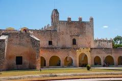 Convent of San Bernardino de Siena. Valladolid, Yucatan, Mexico. Convent of San Bernardino de Siena on a sunny day in Valladolid, Yucatan, Mexico Stock Image