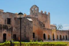 Convent of San Bernardino de Siena. Valladolid, Yucatan, Mexico. Convent of San Bernardino de Siena on a sunny day in Valladolid, Yucatan, Mexico Royalty Free Stock Image
